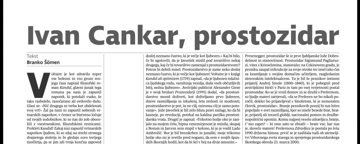 Lep članek Branka Šömna o prostozidarstvu v teh krajih 8
