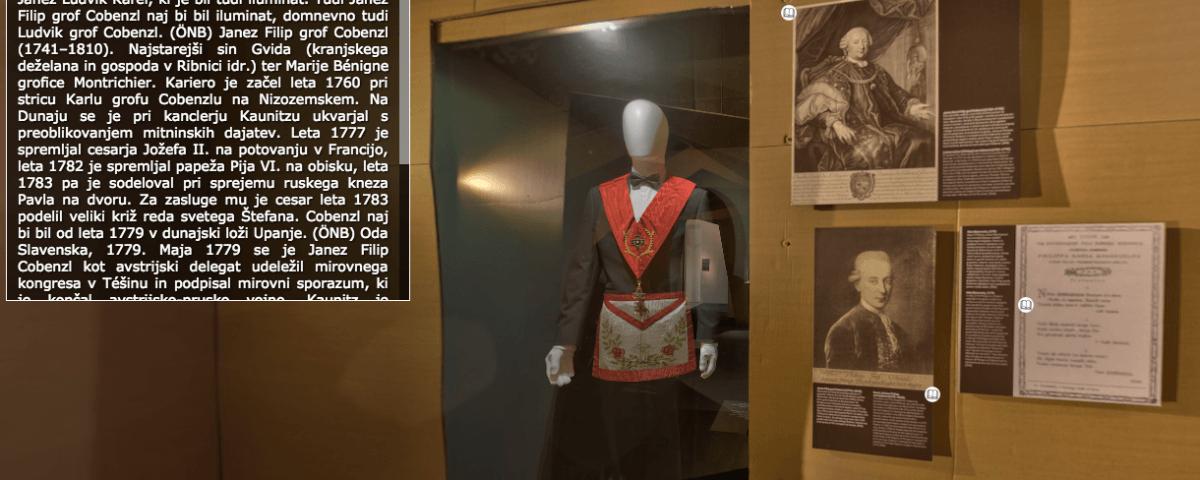 Virtualni sprehod po razstavi SKRIVNOST LOŽE 4 Prostozidarji in prostozidarstvo Velika Loža Slovenije