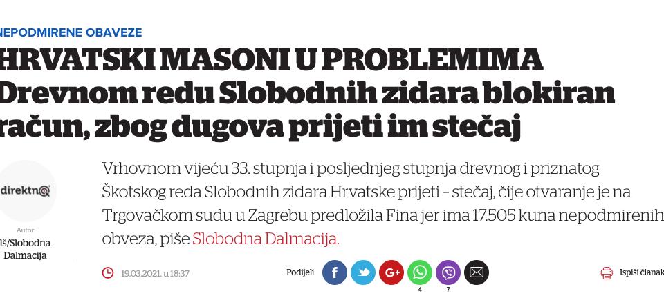 V izogib nesporazumom glede regularnega prostozidarstva 12 Prostozidarji in prostozidarstvo Velika Loža Slovenije