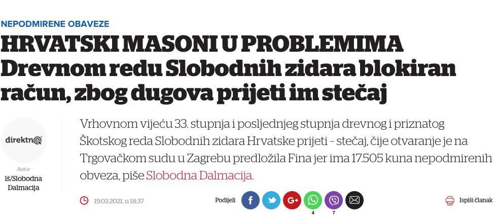 V izogib nesporazumom glede regularnega prostozidarstva 4 Prostozidarji in prostozidarstvo Velika Loža Slovenije